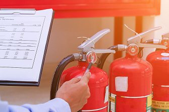 Testing Fire Extinguisher
