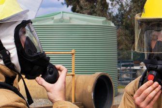 Men Wearing Breathing Apparatus